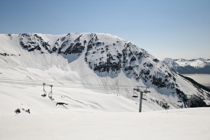 Estación de esquí de Girdwood foto de archivo libre de regalías