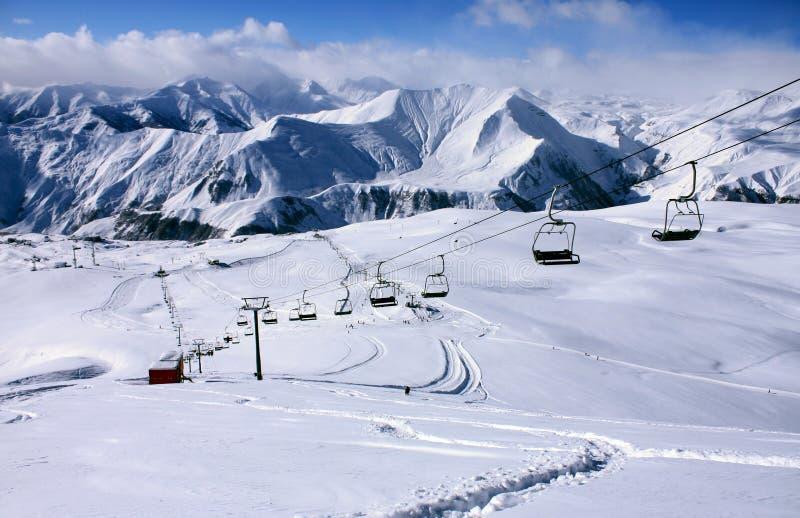 Estación de esquí de Gudauri fotos de archivo