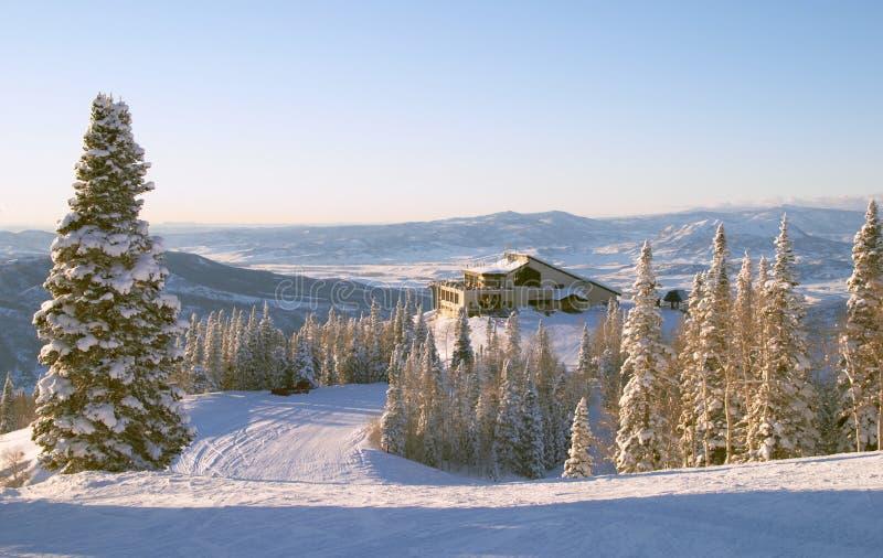 Estación de esquí del barco de vapor, Colorado foto de archivo