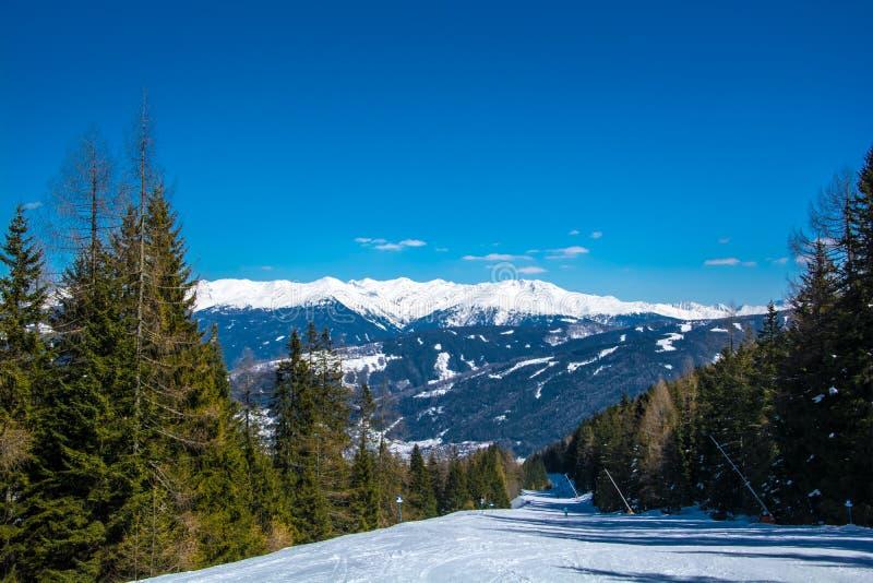 Estación de esquí del glaciar de Neustift Stubai imagen de archivo libre de regalías