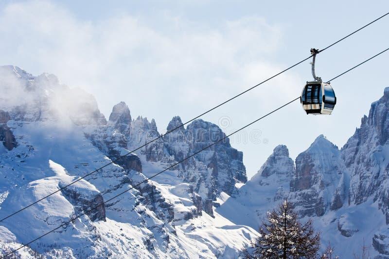 Estación de esquí Madonna Di Campiglio fotografía de archivo libre de regalías