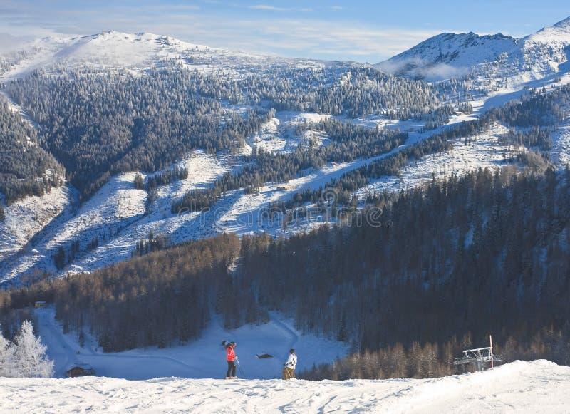 Estación de esquí Schladming austria fotografía de archivo libre de regalías