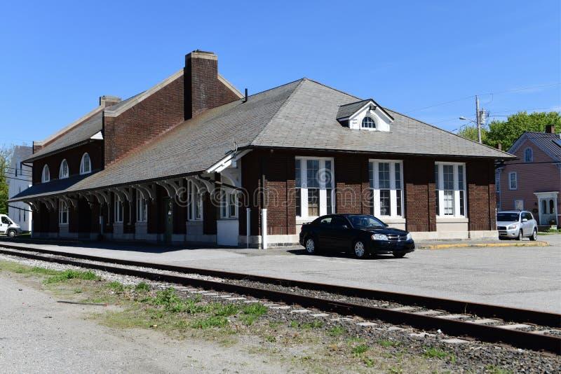 Estación de ferrocarril de Rockland fotografía de archivo libre de regalías