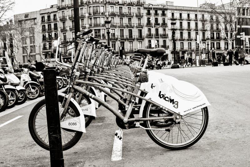 Estación de la bicicleta imagen de archivo libre de regalías