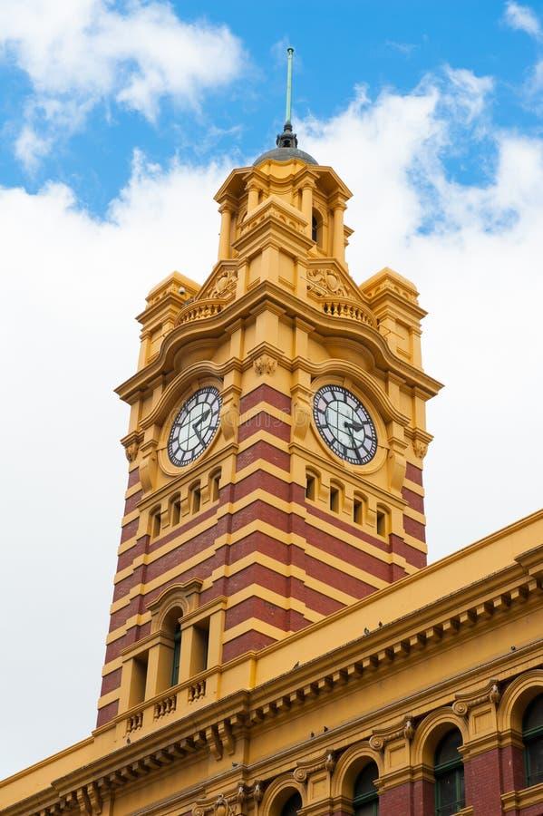 Estación de la calle del Flinders imagenes de archivo