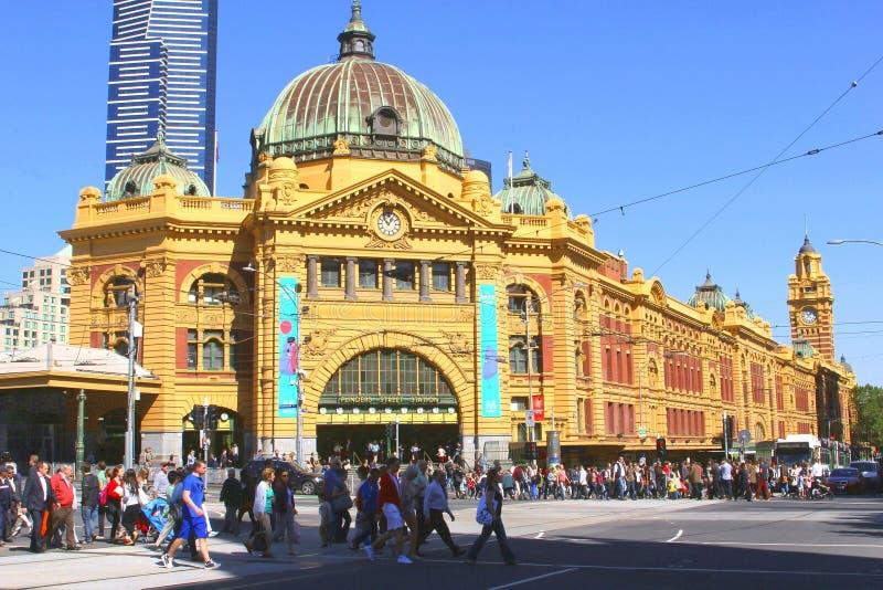 Estación de la calle del Flinders en Melbourne foto de archivo libre de regalías