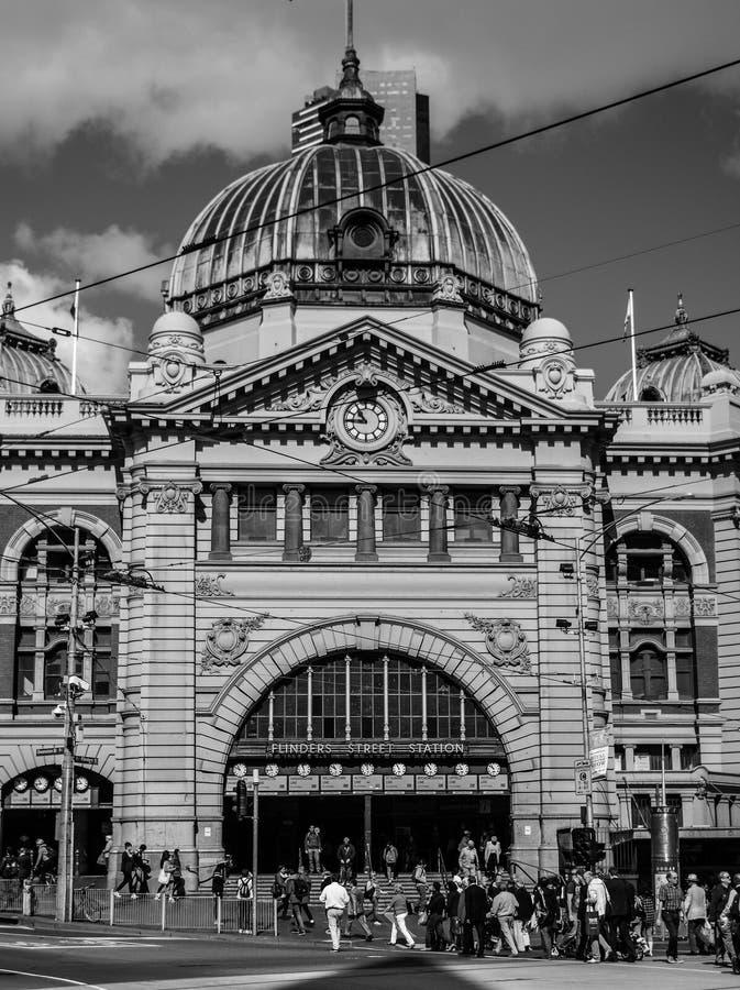 Estación de la calle del Flinders en Melbourne foto de archivo