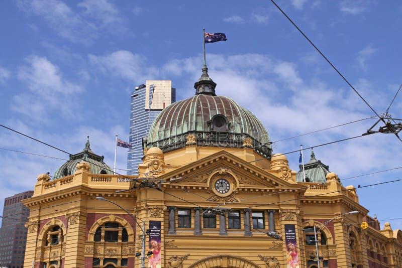 Estación de la calle del Flinders. Melbourne fotografía de archivo libre de regalías