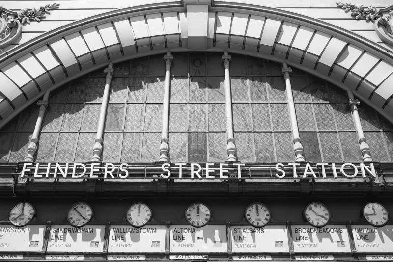 Estación de la calle del Flinders, Melbourne, Australia imagen de archivo
