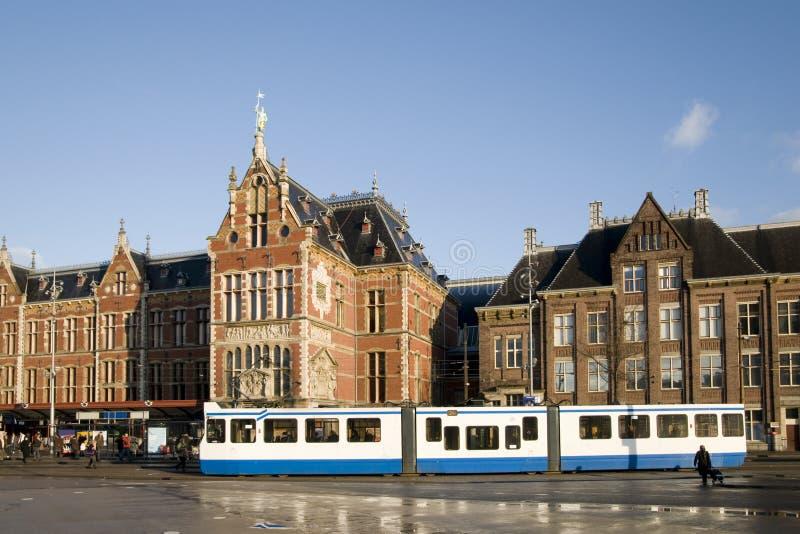 Estación de la central de Amsterdam imagen de archivo