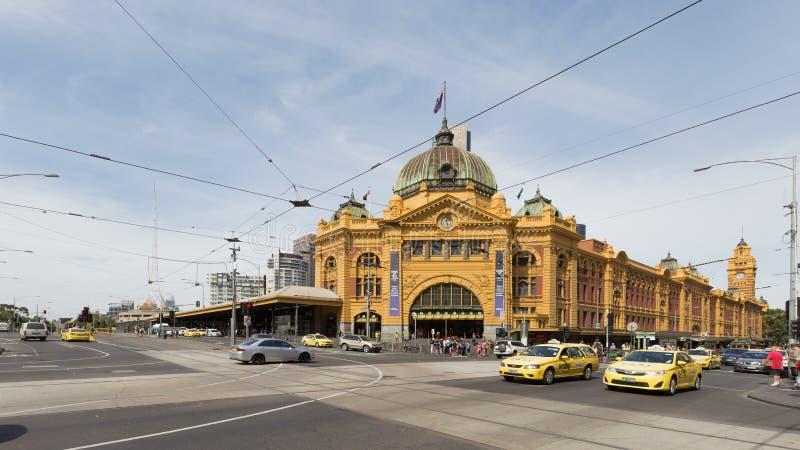 Estación de la estación de la calle del Flinders, Melbourne, Australia imagen de archivo