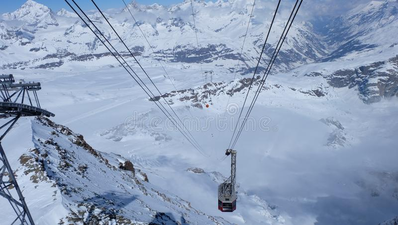 Estación de la montaña de Riffelberg, Suiza fotografía de archivo