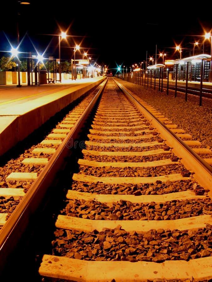 Estación de la noche imagen de archivo