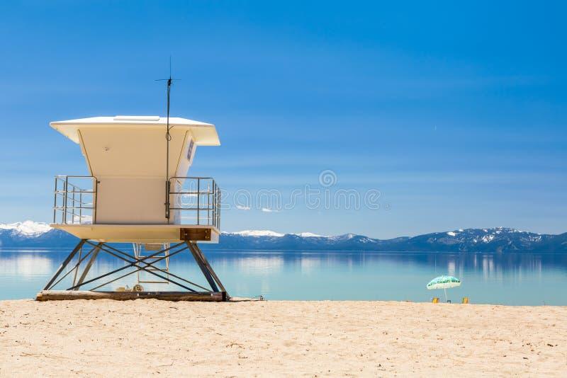 Estación de la patrulla de la playa foto de archivo