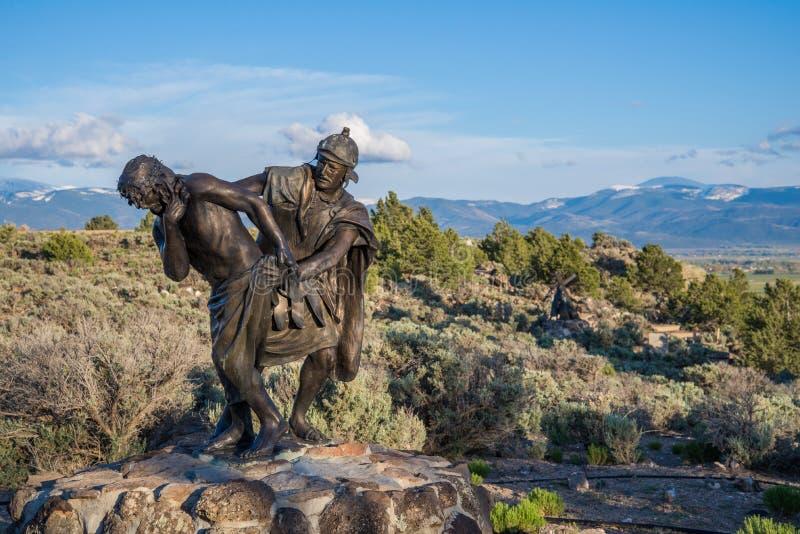 Estación de la señal cruzada Colorado imágenes de archivo libres de regalías