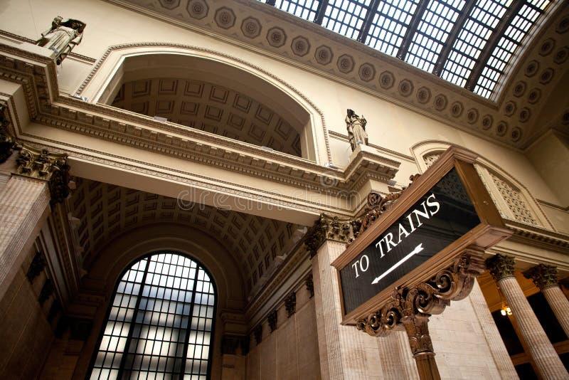 Estación de la unión de Chicago fotografía de archivo