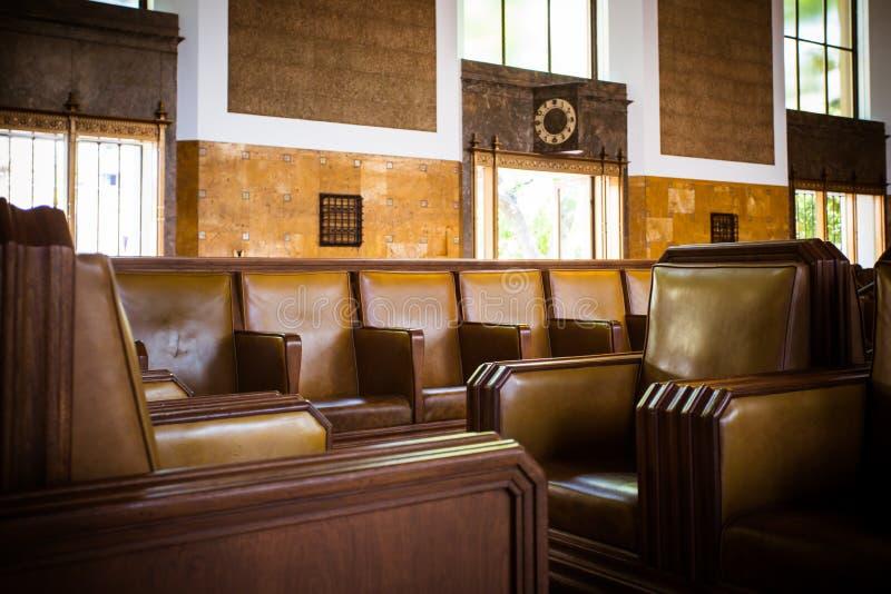 Estación de la unión de Los Ángeles que marca Pasillo foto de archivo