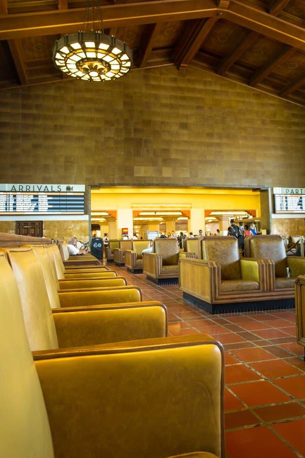 Estación de la unión de Los Ángeles que marca Pasillo imagenes de archivo