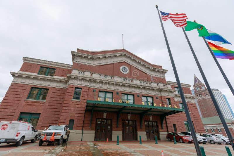 Estación de la unión, que es una estación de tren anterior en Seattle, Washington, los E.E.U.U. fotos de archivo libres de regalías