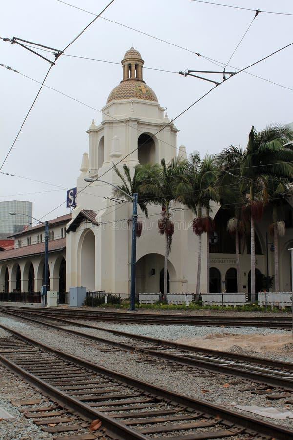 Estación de la unión (Santa Fe Depot) San Diego foto de archivo
