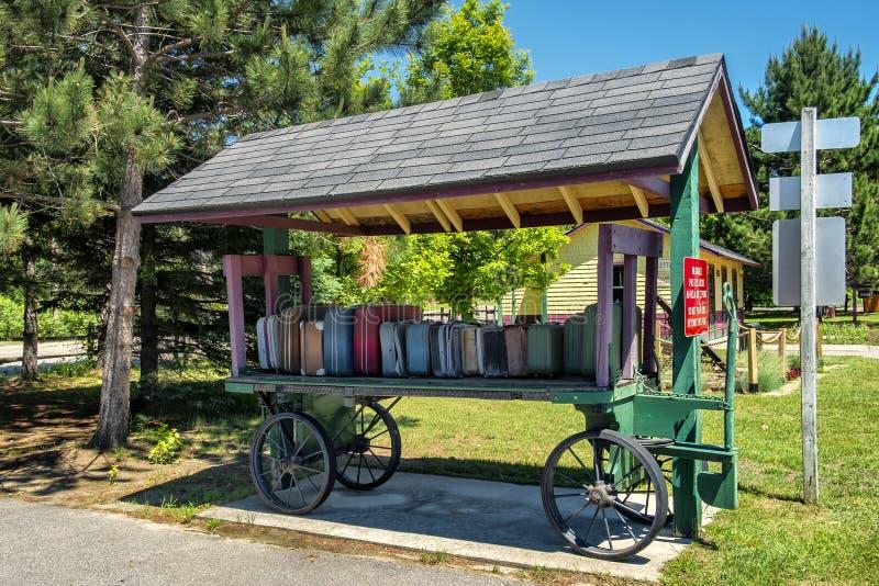 Estación de Labelle del museo ferroviario imagenes de archivo