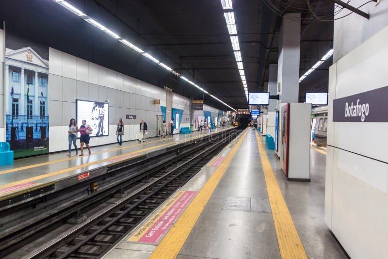 Estación de metro Botafogo en Rio de Janeiro, el Brasil imagen de archivo libre de regalías