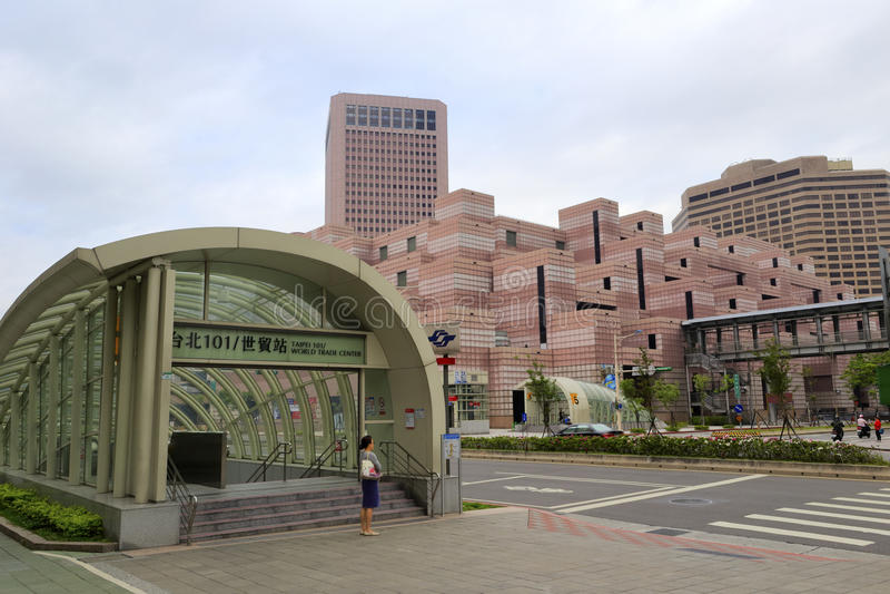 Estación de metro (comercio mundial de Taipei 101/) foto de archivo libre de regalías