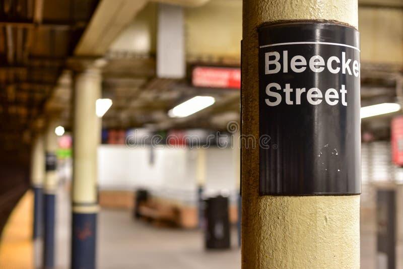 Estación de metro de la calle de Bleecker - New York City fotos de archivo