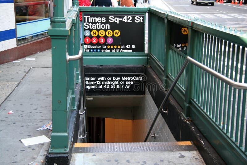 Estación de metro de Nueva York imágenes de archivo libres de regalías