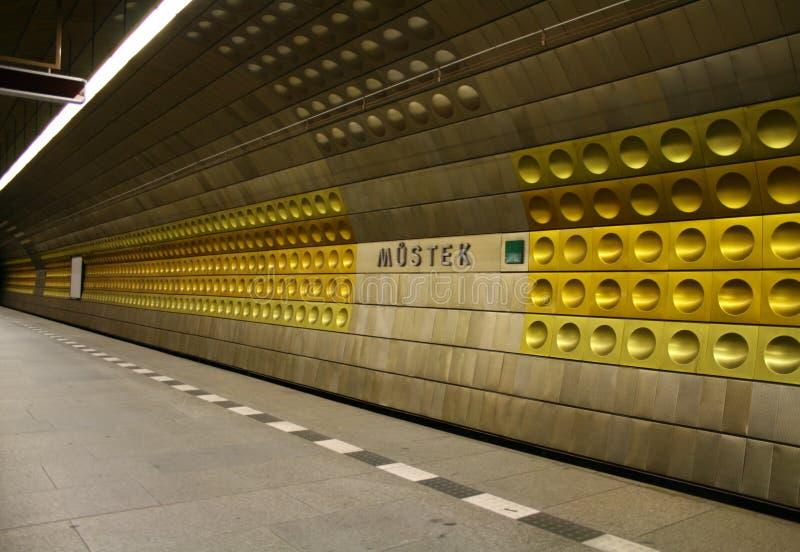 Estación de metro de Praga fotos de archivo libres de regalías