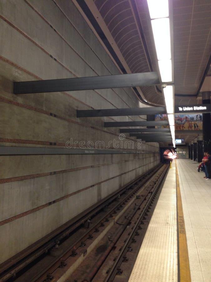 Estación de metro del LA imagen de archivo
