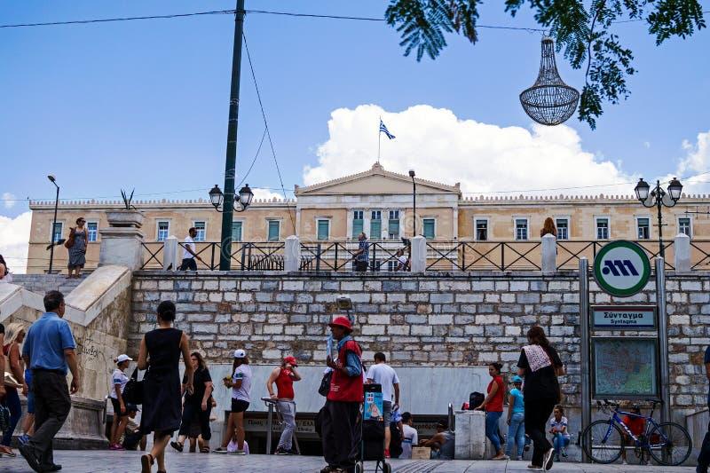 Estación de metro del sintagma, Atenas, Grecia imagen de archivo libre de regalías