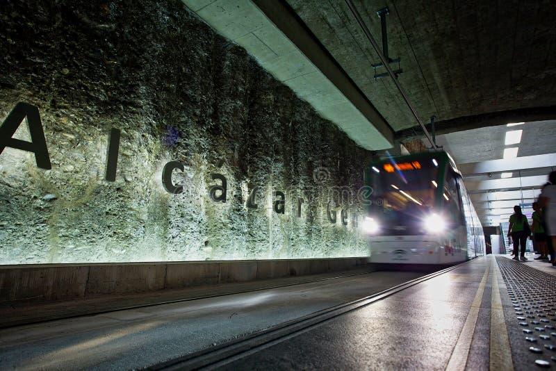 Estación de metro del ZAR Genil del ¡de Alcà fotografía de archivo