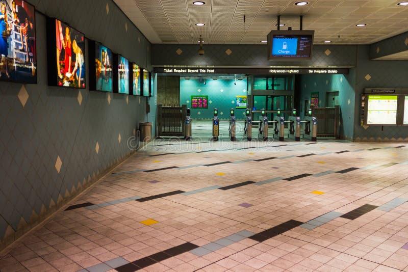 Estación de metro en LA imagenes de archivo