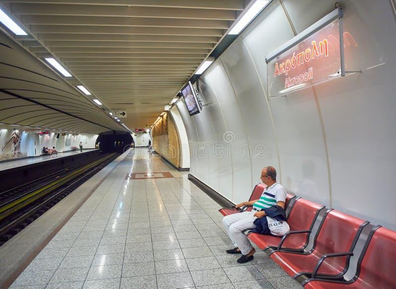 Estación de metro de la acrópolis atenas Atica, Grecia fotografía de archivo