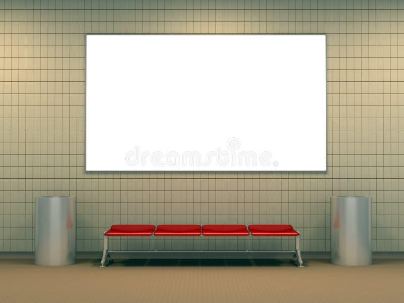 Estación de metro moderna ilustración del vector