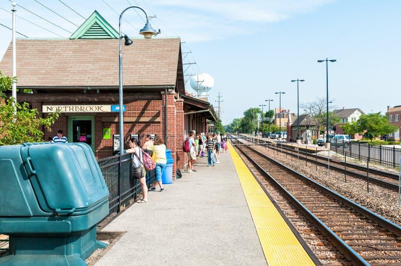 Estación de Northbrook Metra, los E.E.U.U. imagenes de archivo