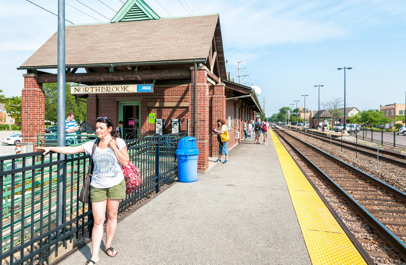 Estación de Northbrook Metra, los E.E.U.U. fotos de archivo libres de regalías