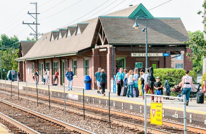 Estación de Northbrook Metra, los E.E.U.U. fotografía de archivo libre de regalías