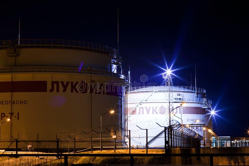 Estación de petróleo imagen de archivo libre de regalías