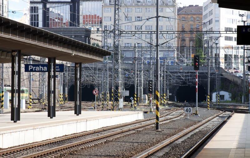 Estación de Praga imagen de archivo libre de regalías