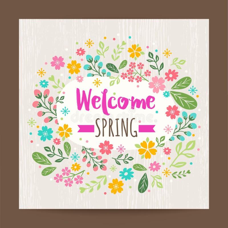 Estación de primavera agradable, fondo floral del ejemplo stock de ilustración