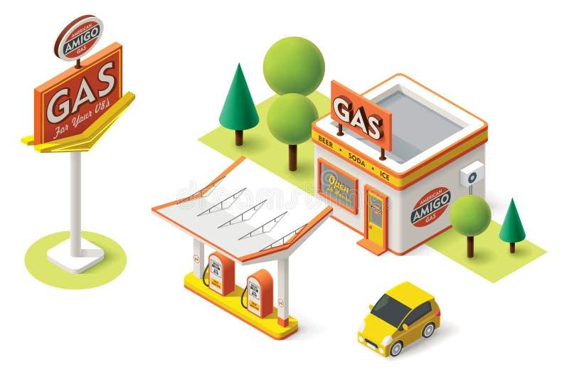 Estación de servicio del gas del vector libre illustration