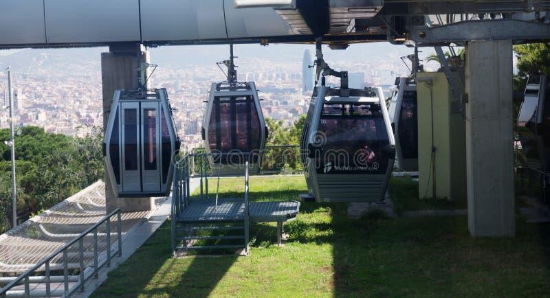 Download Estación De Teleferic De Montjuic En Barcelona Foto de archivo editorial - Imagen de gente, montaña: 41921273