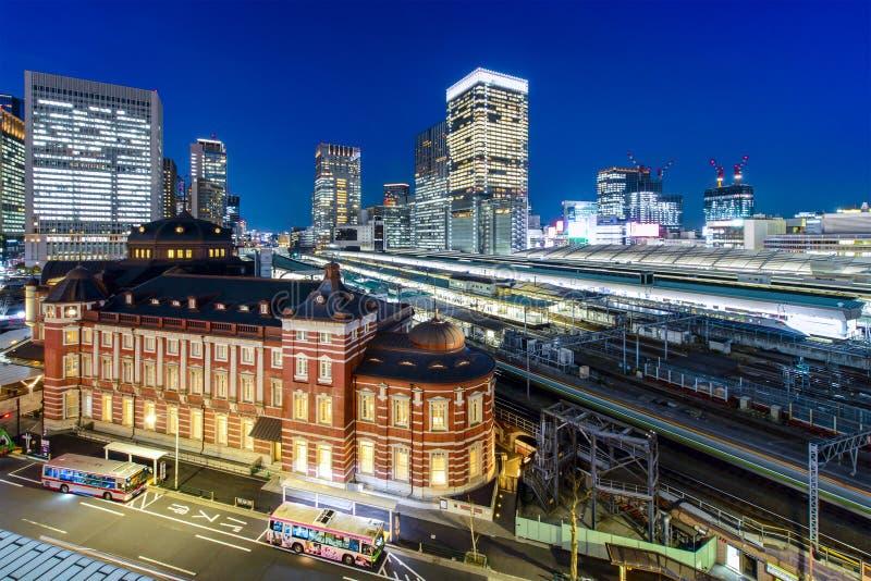 Estación de Tokio en el distrito financiero de Marunouchi, imágenes de archivo libres de regalías