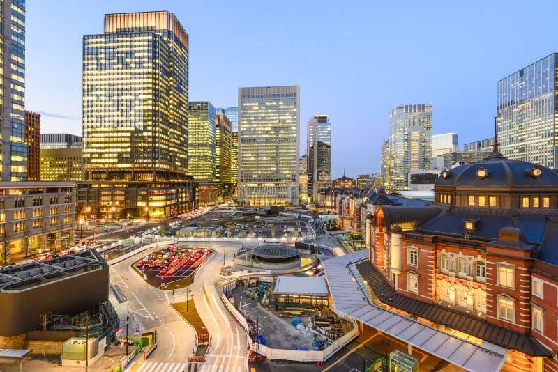 Estación de Tokio en el negocio del marunouchi imagen de archivo