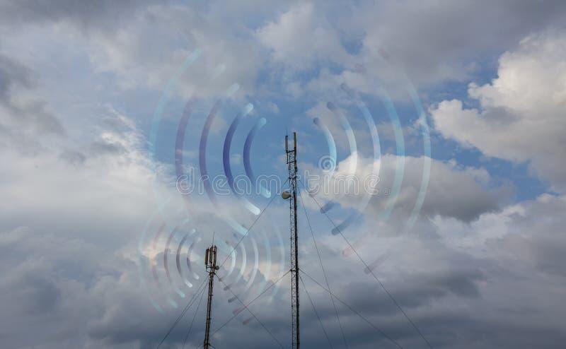 Estación de transmisor-receptor baja imagen de archivo
