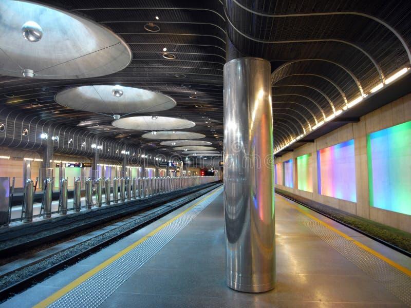 Estación de tren - Auckland imagenes de archivo