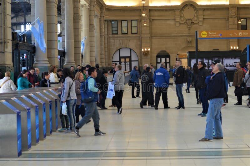 Estación de tren de Buenos Aires, la Argentina fotografía de archivo