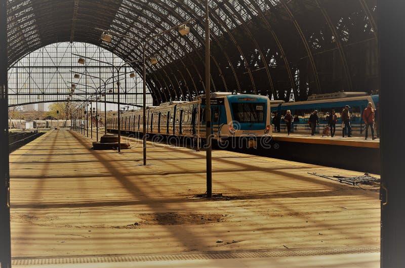 Estación de tren de Buenos Aires, la Argentina foto de archivo libre de regalías